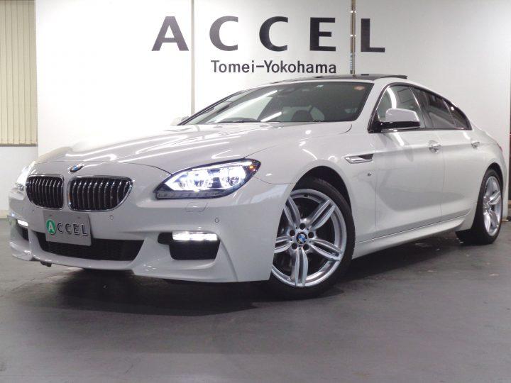 BMW 640i グランクーペ Mスポーツ サンルーフ ブラックレザー/ヒーター 純正ナビ/カメラ LEDヘッドライト 19インチアルミ ワンオーナー