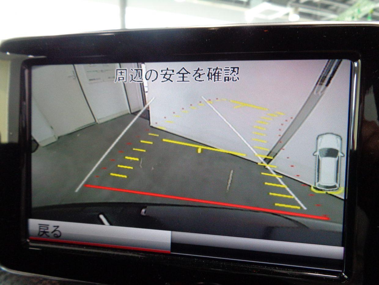 パーキングアシスト付きのリアビューカメラ! ステアリング操作に連動して予測進路をモニターで表示!