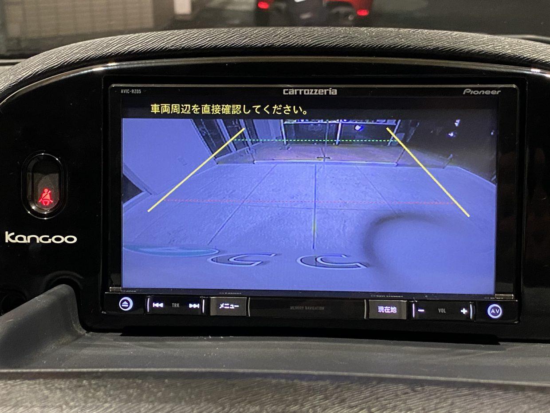 ガイドライン付きのバックカメラで駐車も安心ですね!